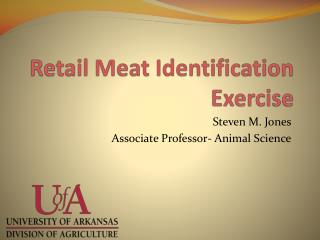 Retail Meat Identification Exercise