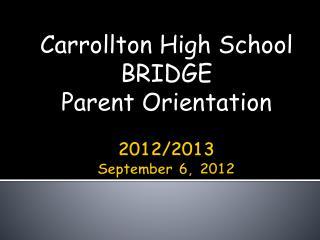 2012/2013 September 6, 2012
