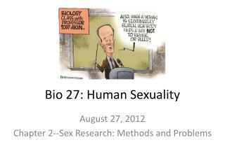 Bio 27: Human Sexuality