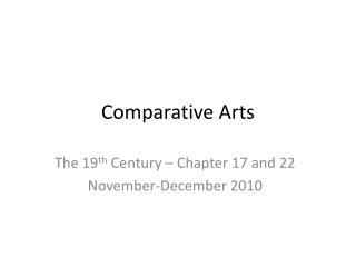 Comparative Arts