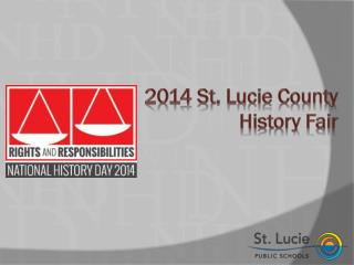 2014 St. Lucie County History Fair