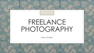 Freelance photography