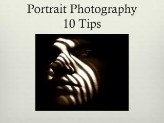 Portrait Photography 10 Tips