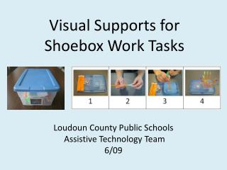 Visual Supports for       Shoebox Work Tasks