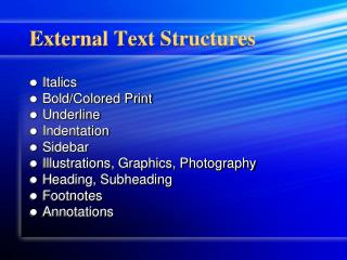 External Text Structures