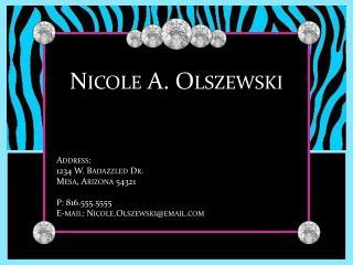 Nicole A. Olszewski