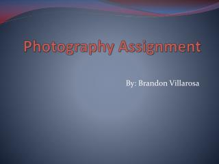 Photography Assignment