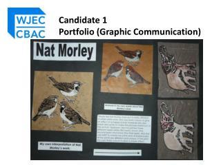 Candidate 1  Portfolio (Graphic Communication)