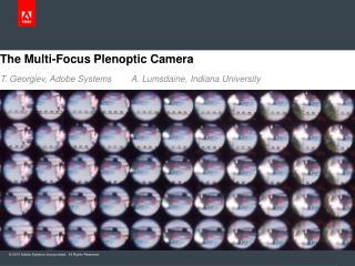 The Multi-Focus  Plenoptic  Camera