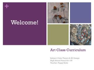 Art Class Curriculum