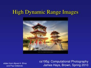 High Dynamic Range Images