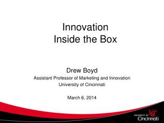 Innovation  Inside the Box