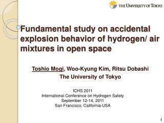 Toshio Mogi , Woo-Kyung Kim,  Ritsu Dobashi The University of Tokyo