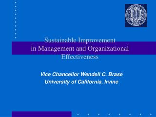 sustainable improvement in management and organizational ...