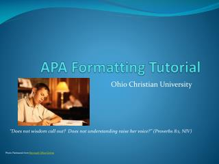 APA Formatting Tutorial