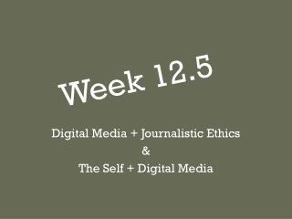 Week 12.5