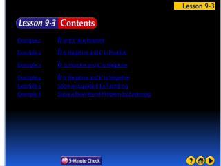 Lesson 3 Contents