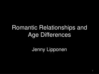 Romantic Relationships and Age Differences