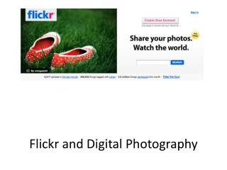 Flickr  and Digital Photography