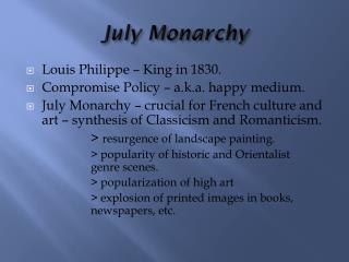 July Monarchy