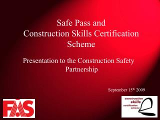 safe pass and construction skills certification scheme