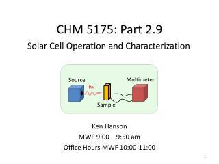 CHM 5175: Part 2.9