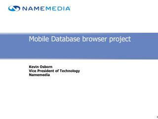 Mobile Database browser project