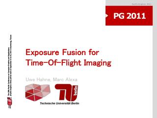 Exposure Fusion for Time-Of-Flight Imaging