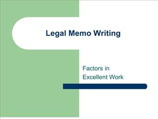 legal memo writing