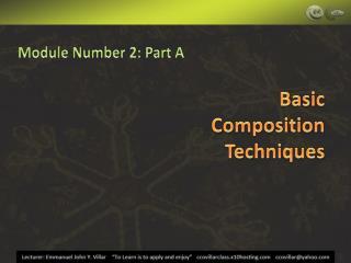 Module Number 2: Part A