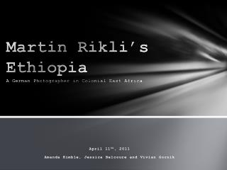 Martin  Rikli's  Ethiopia A German Photographer in Colonial East Africa