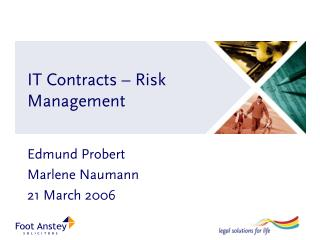 it contracts   risk management