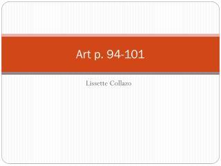 Art p. 94-101