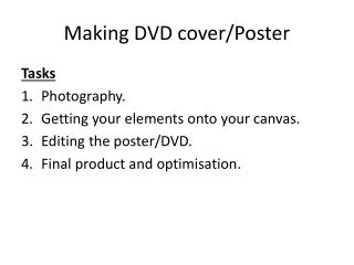 Making DVD cover/Poster