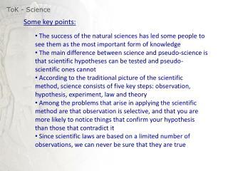ToK  - Science