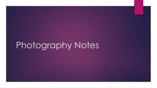 Photography Notes