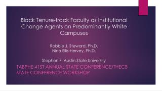 TABPHE 41st Annual State  Conference/THECB  State Conference  Workshop