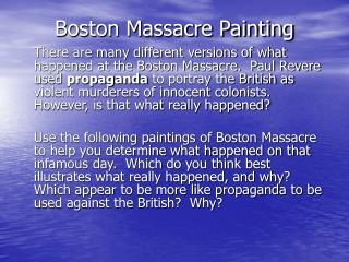 Boston Massacre paintings