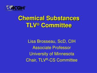 chemical substances tlv  committee