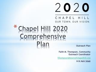 Chapel Hill 2020 Comprehensive Plan