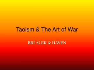 Taoism & The Art of War