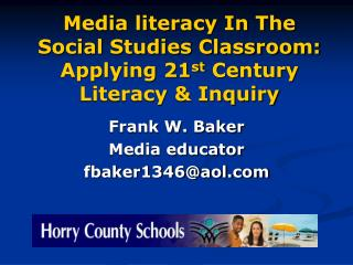 media literacy in the social studies classroom: applying 21st century literacy  inquiry