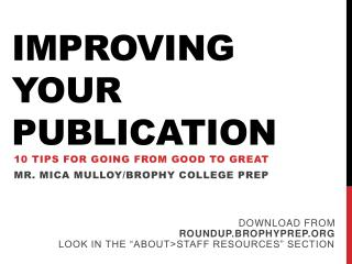 Improving Your Publication