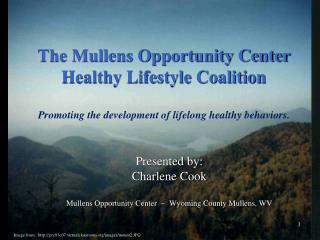 The Mullens Opportunity Center  Healthy Lifestyle Coalition  Promoting the development of lifelong healthy behaviors.