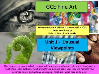 GCE Fine Art