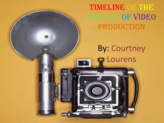 TimeLine  of  the History of Video production By : Courtney Lourens