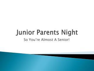 Junior Parents Night