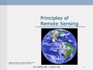 Principles of Remote Sensing