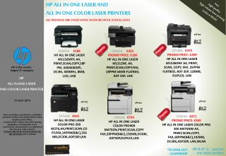 HP ALL IN ONE LASER AND COLOR LASER PRINTER