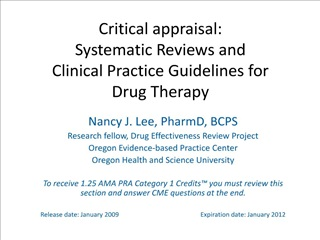 critical appraisal: systematic reviews and clinical practice ...